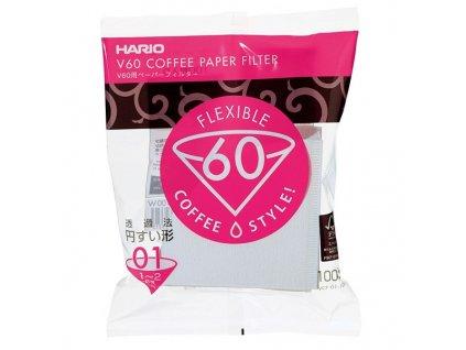 Hario papírové filtry Hario V60 01 100 ks