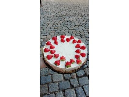 Cheesecake jahodový