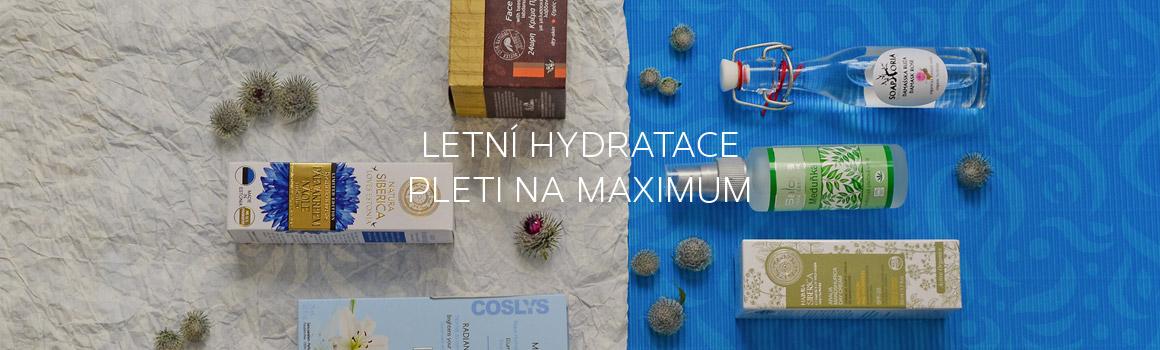 Letní hydratace pleti na maximum