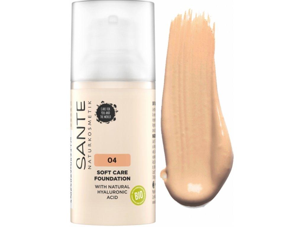 Sante Jemný krémový make-up 04 warm honey 30ml