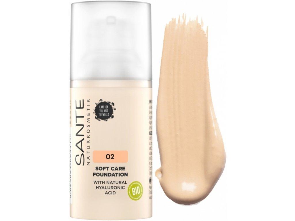 Sante Jemný krémový make-up 02 světle béžová 30 ml
