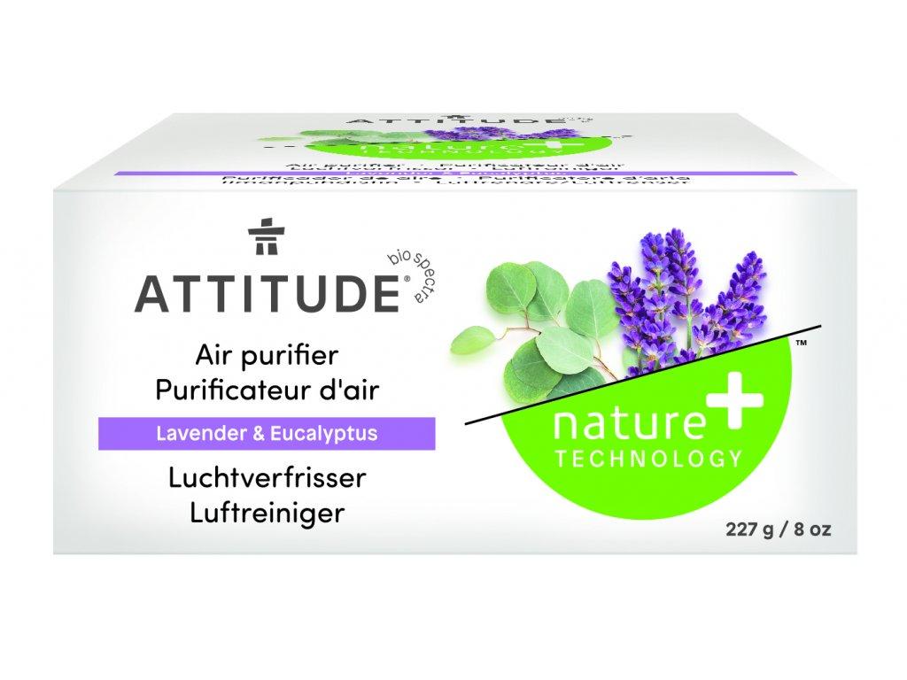Attitude Přírodní čistící osvěžovač vzduchu s esenciálními oleji s vůní levandule a eukalyptu 227 g