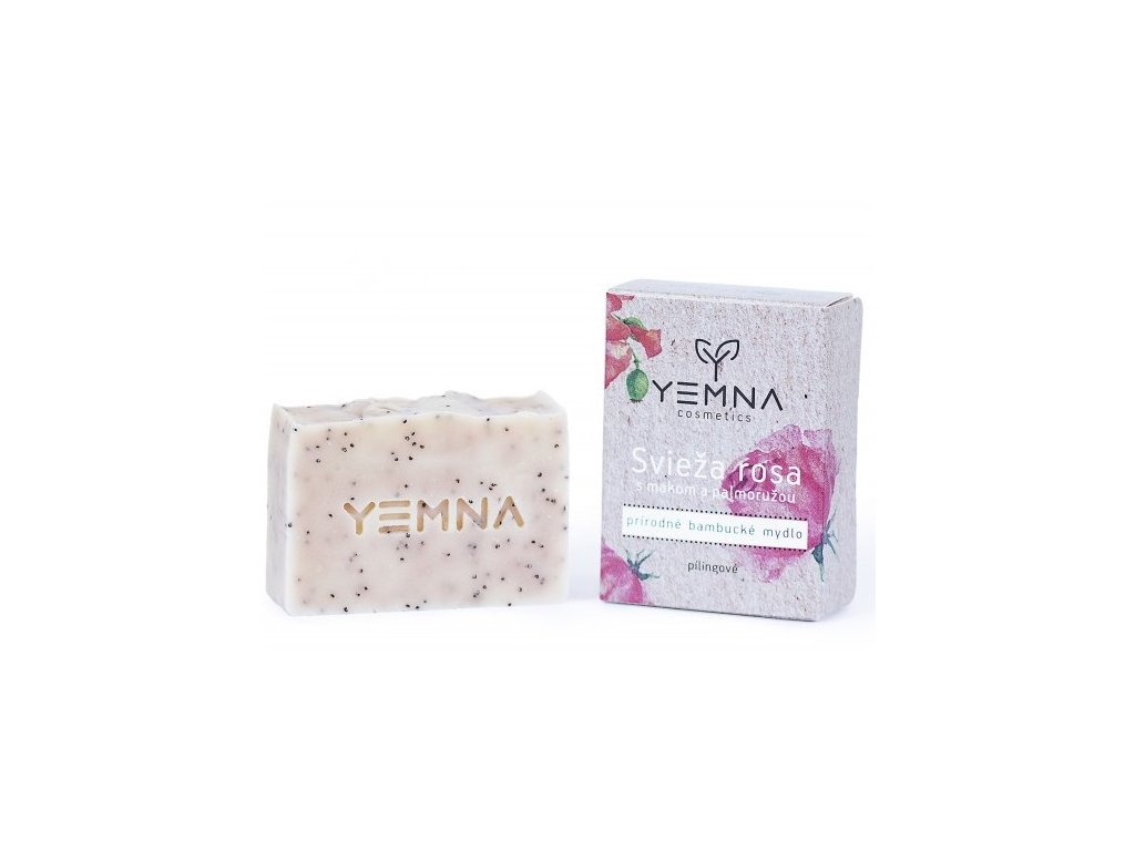 Yemna Přírodní mýdlo Svěží rosa s mákem a palmorůží 100 g