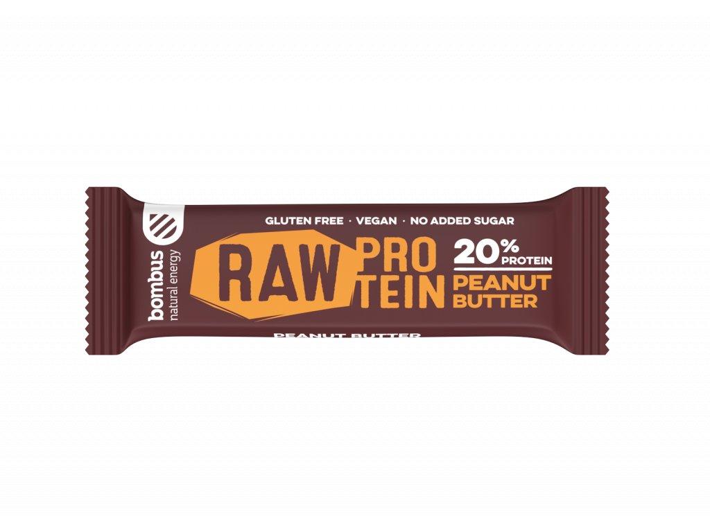 Bombus Raw protein arašídové máslo 50 g