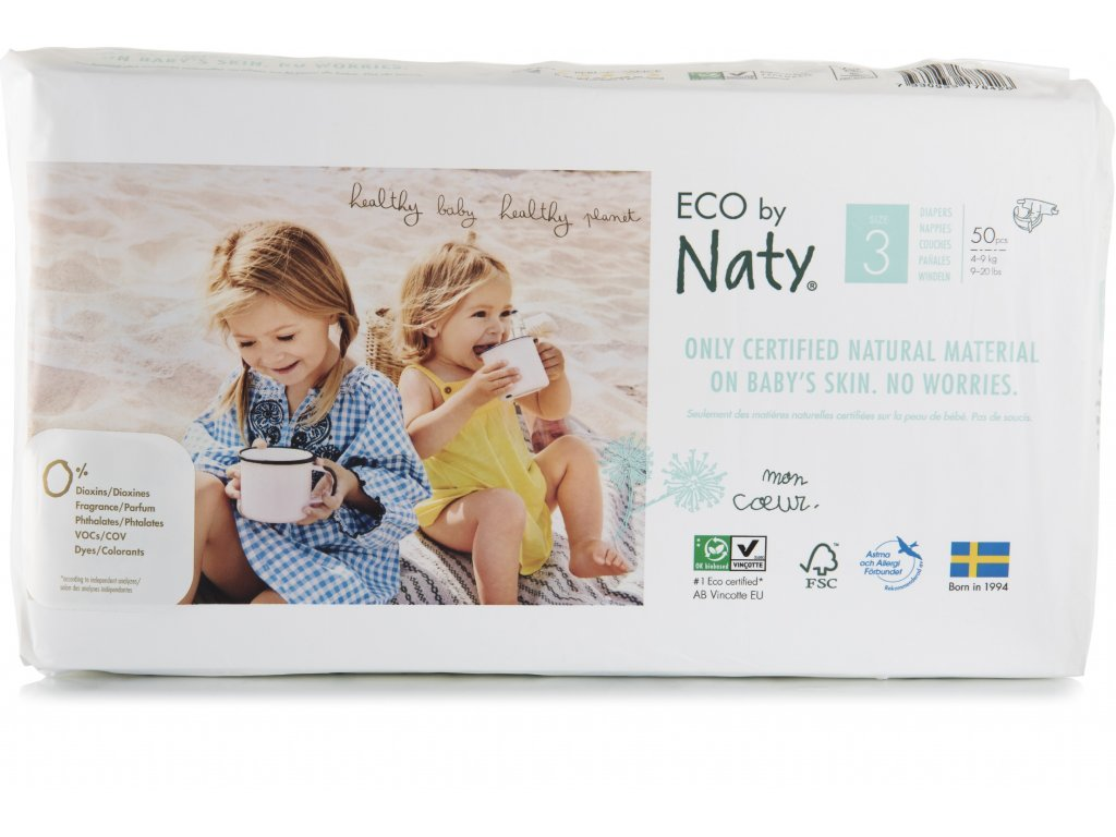 Naty Nature Economy Pack Midi 3 4-9 kg 50 ks