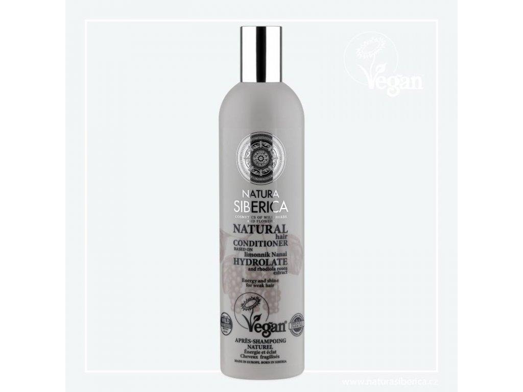 Natura Siberica Kondicionér pro unavené a slabé vlasy Vitalita a lesk 400 ml