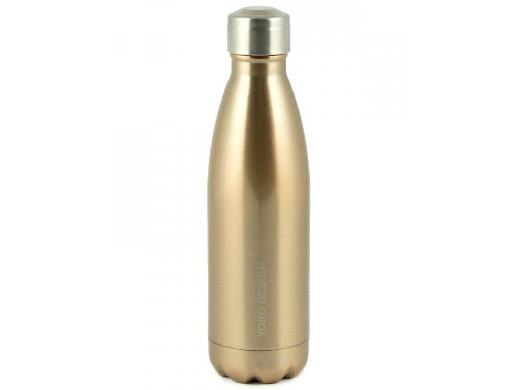 Yoko Design Termolahev 500 ml lesklá zlatá
