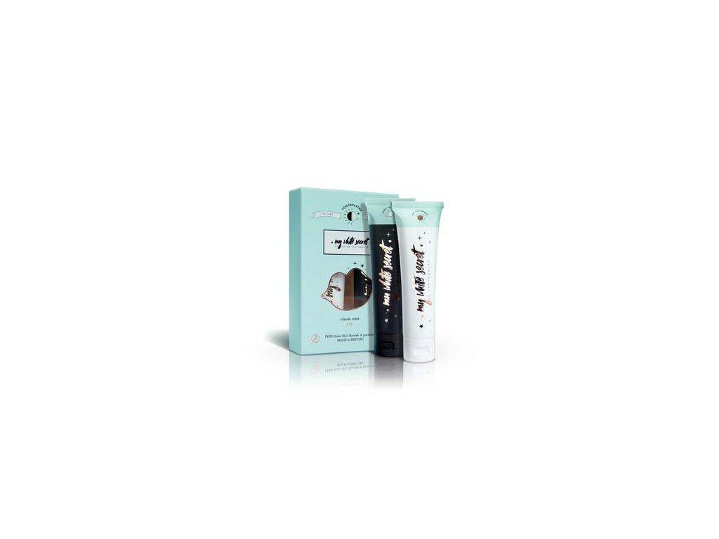 My White Secret Denní a noční bělící zubní pasty 2x65ml