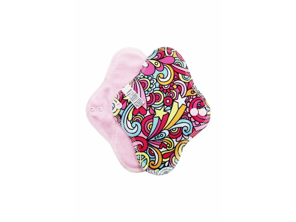 Breberky Slipová vložka s PUL - Hippie na růžové