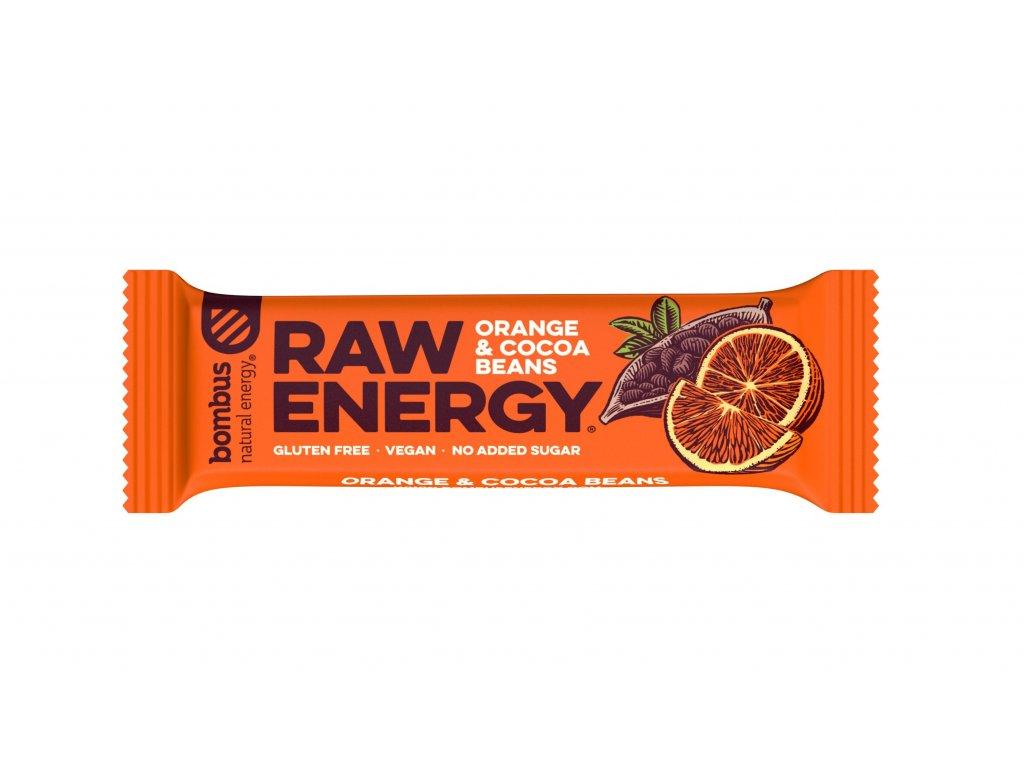 Bombus Raw energy pomeranč a kakaové boby 50 g