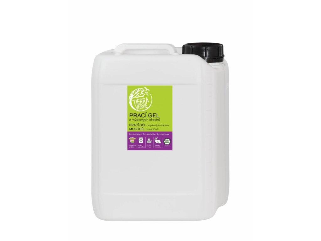 Yellow & Blue Prací gel z mýdlových ořechů s bio levandulovou silicí 5 l