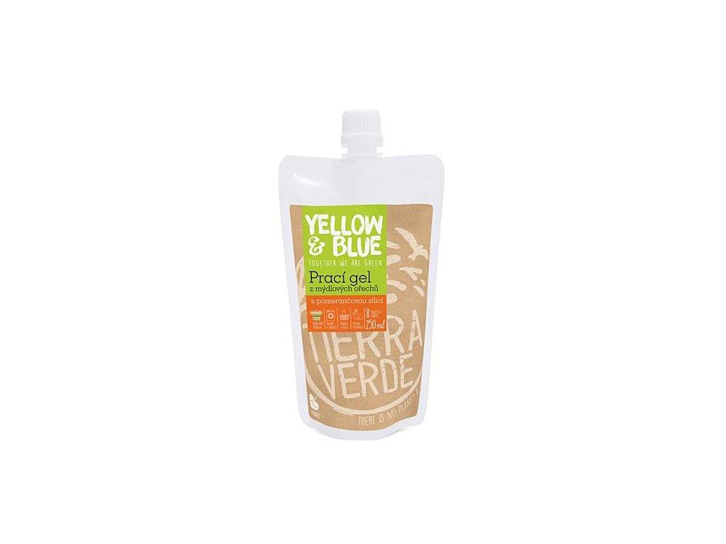 Yellow & Blue Prací gel z mýdlových ořechů s pomerančovou silicí 250ml