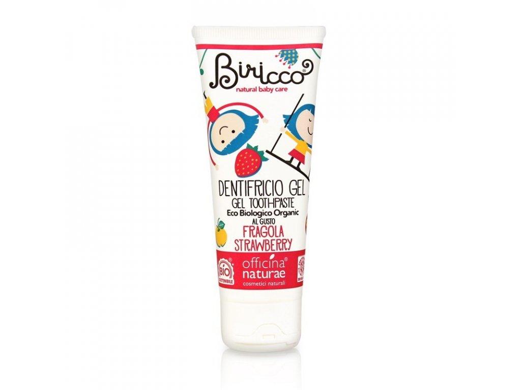 Officina Naturae Biricco Přírodní zubní pasta pro děti jahoda 75ml