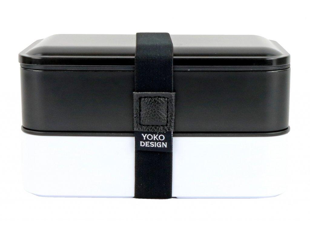 Yoko Design Dvoupatrový box na jídlo černý
