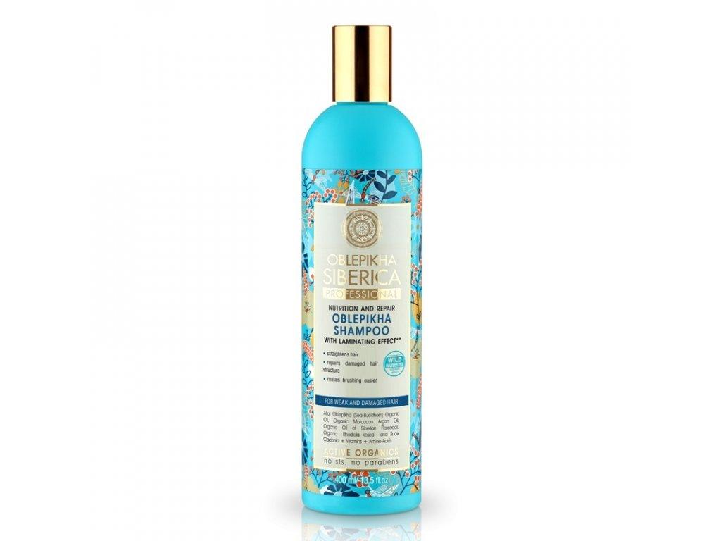 Natura Siberica Rakytníkový šampon pro poškozené vlasy Výživa a revitalizace 400 ml