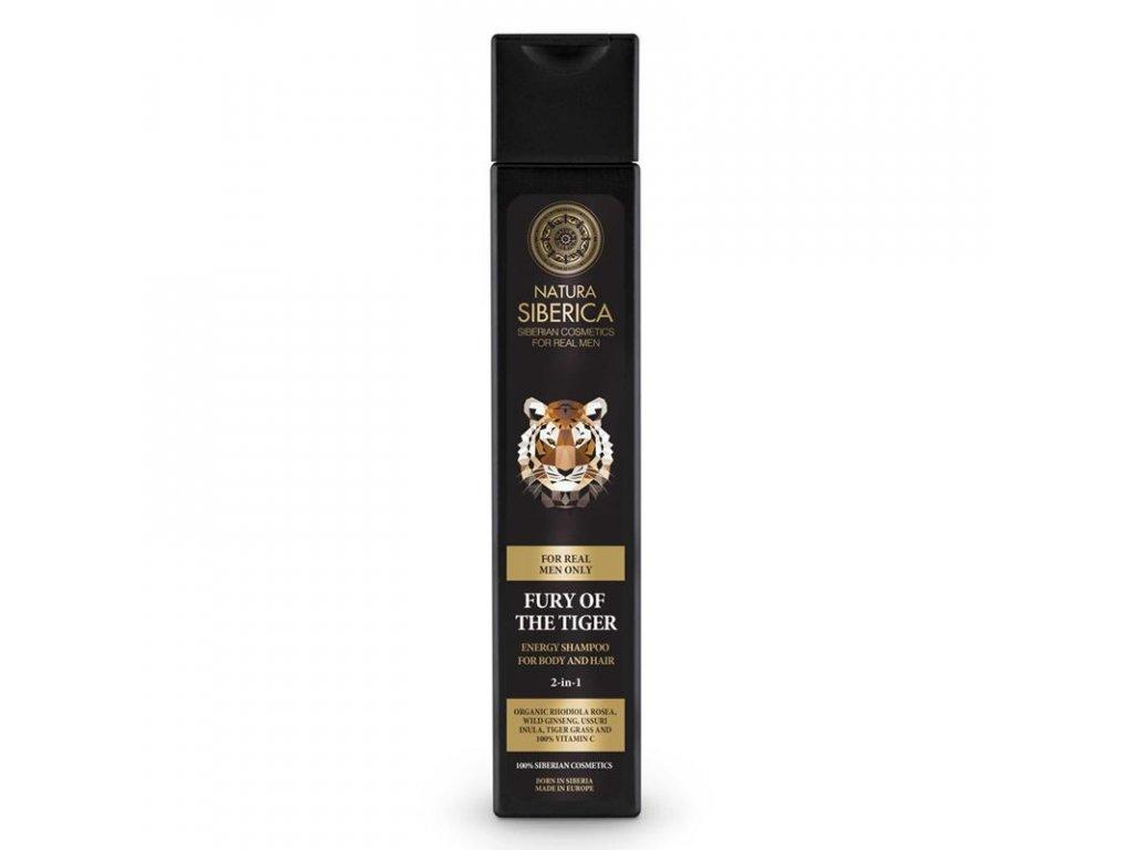 Natura Siberica Energizující šampon na vlasy a tělo 2v1 Nezkrotnost tygra 250 ml