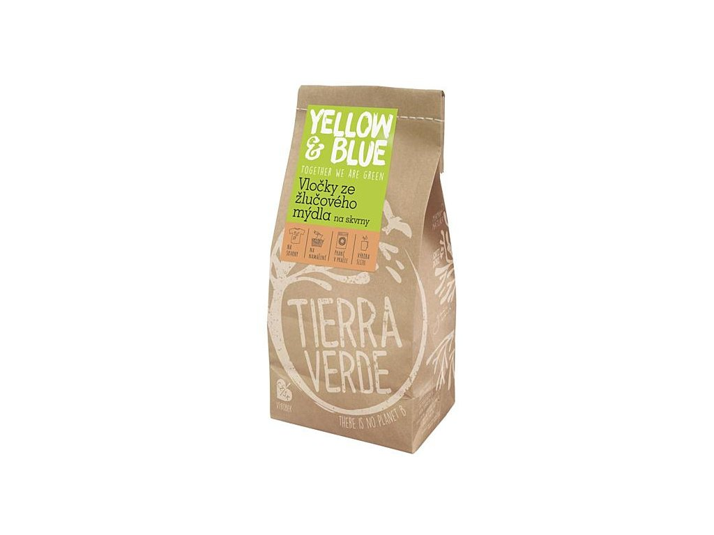 Yellow & Blue Vločky ze žlučového mýdla na skvrny 400g