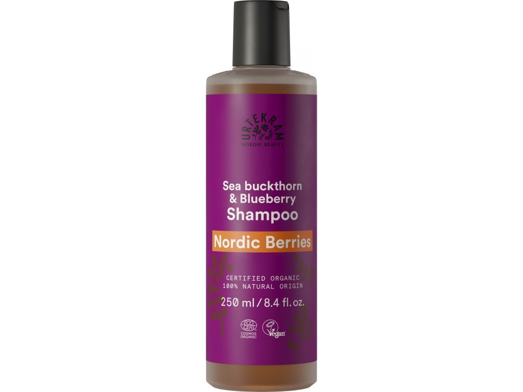Urtekram Šampón Nordic Berries na poškozené vlasy Bio 250 ml