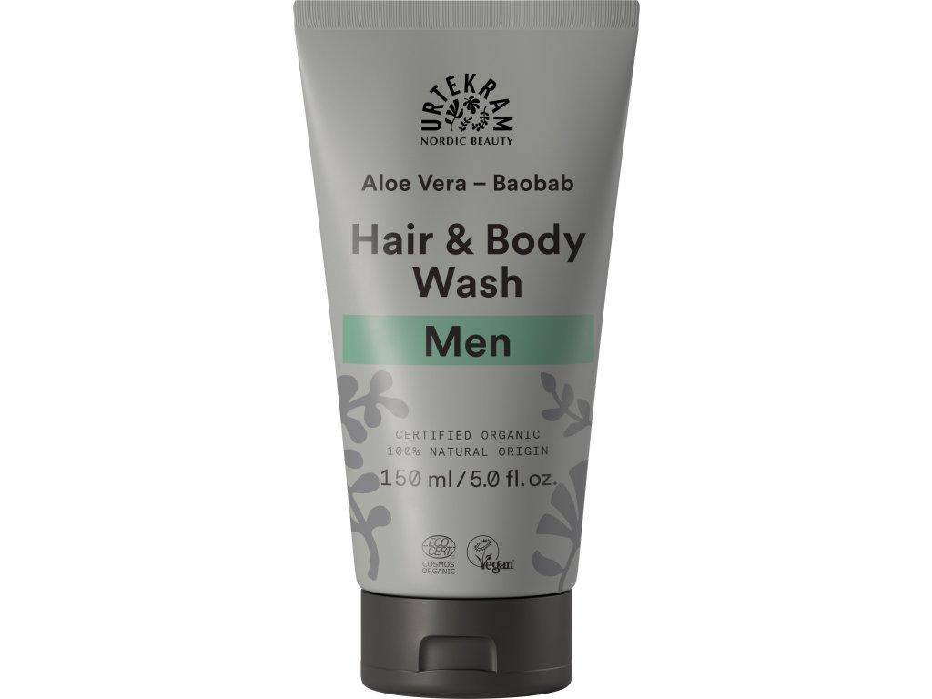 Urtekram Sprchový gel a šampón MEN Bio 150 ml