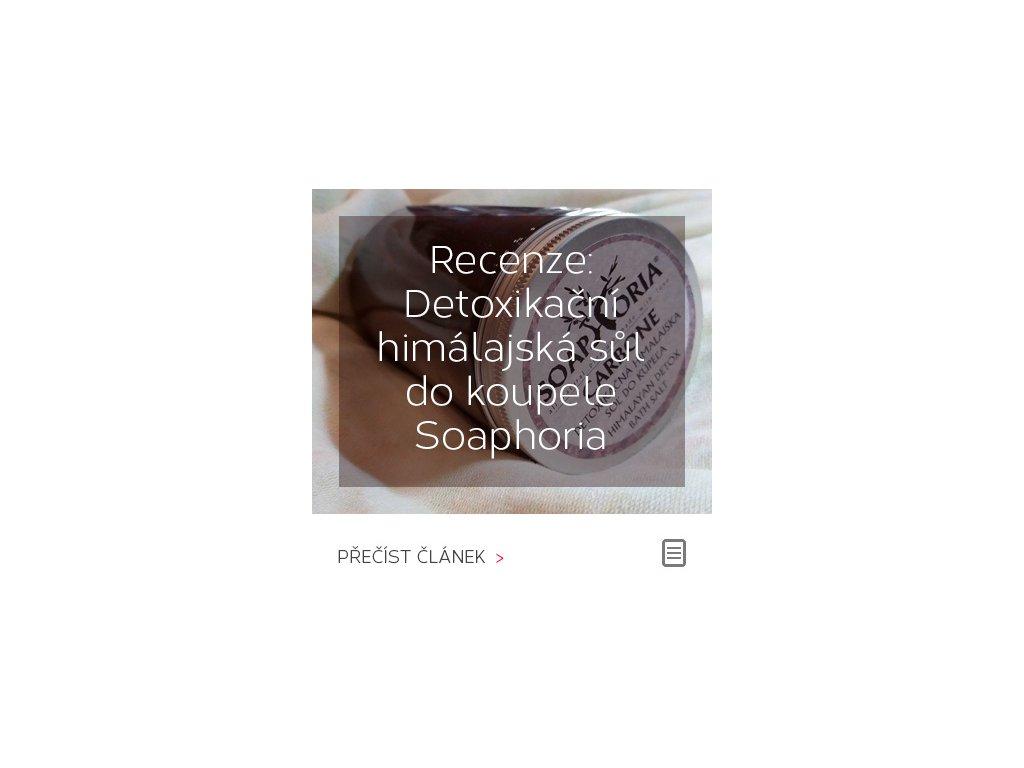 Recenze: detoxikační černá himálajská sůl do koupele Soaphoria CARBONE