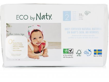 Naty Nature Babycare Mini 2 3-6 kg 33 ks
