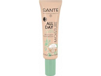 Sante Hydratační 24h make-up 03 sluneční béžová 30ml