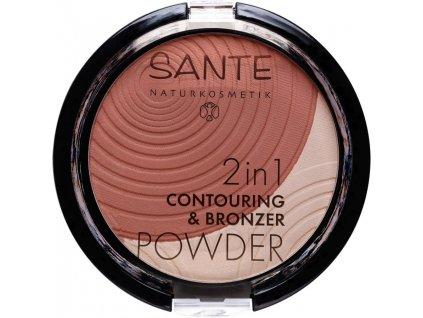 Sante 2v1 Konturovací a bronzující pudr 01 světlá- střední 9g
