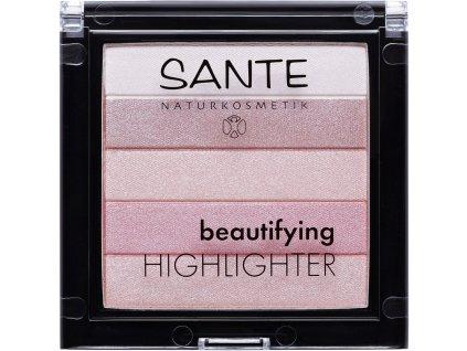 Sante Beautifying highlighter 02 růžová 7g