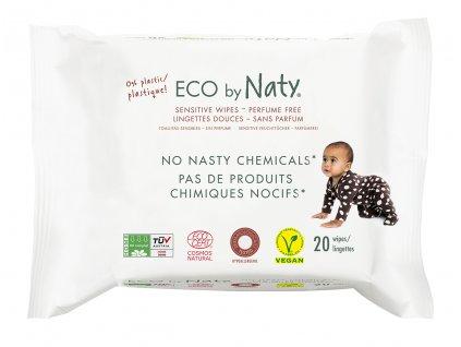 Eco by Naty Babycare Vlhčené ubrousky bez vůně - pro citlivou pokožku 20 ks