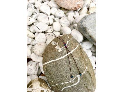 2bears Jewellery Dámský náhrdelník s polodrahokamem barevného Hematitu 3 kuličky