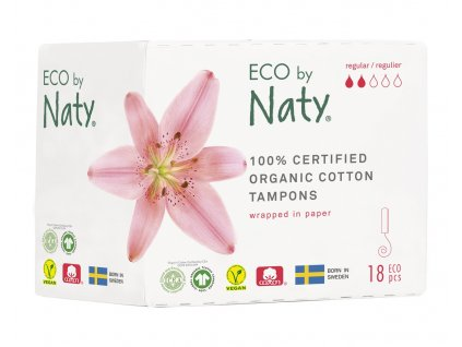 Naty Nature Dámské ECO tampóny Regular 18 ks