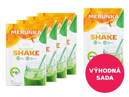 5 x Matcha Shake s meruňkami 30 g za akční cenu!