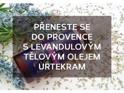 Přeneste se do Provence s Levandulovým tělovým olejem Urtekram