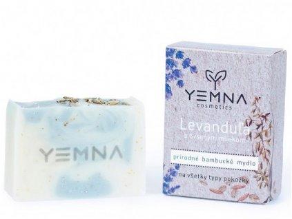Yemna Přírodní mýdlo Levandule s ovesným mlékem a vločkami 100 g