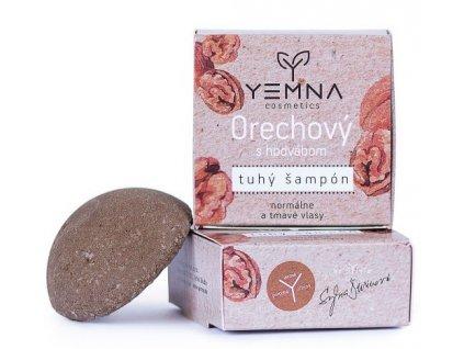 Yemna Tuhý šampon Ořechový s jílem Rhassoul 55 g