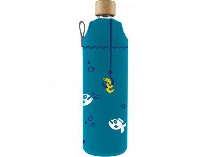 Drinkit Skleněná láhev s neoprénovým obalem Piraně 700ml