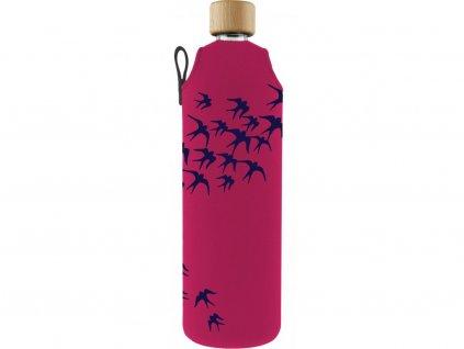 Drinkit Skleněná láhev s neoprénovým obalem Vlaštovky 700ml