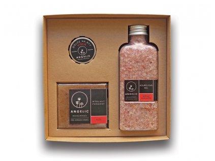 Dárková krabička Angelic Koupelová sůl Růžové pohlazení