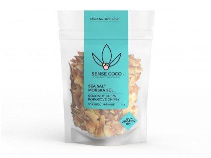 SENSE COCO Kokosové chipsy s mořskou solí BIO 40g