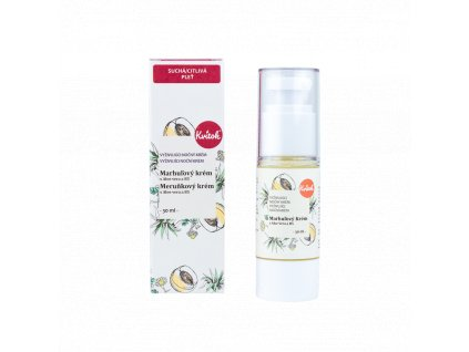 Kvitok Noční meruňkový krém s provitamínemB5 pro citlivou pleť Bio 30 ml