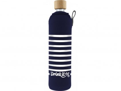 Drinkit Skleněná láhev s neoprénovým obalem Námořník 500ml