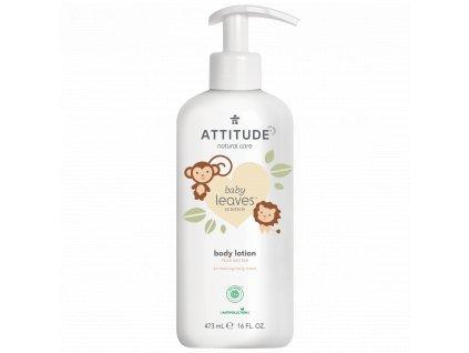 Attitude Baby Leaves Dětské tělové mléko s vůní hruškové šťávy 473 ml