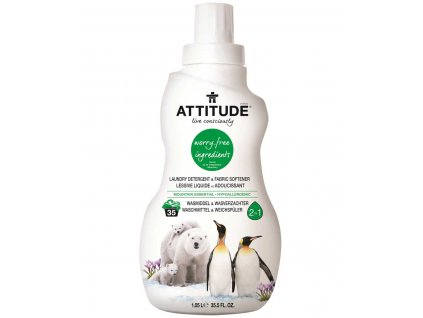 Attitude Prací gel a aviváž 2v1 s vůní Mountain Essentials 1050 ml