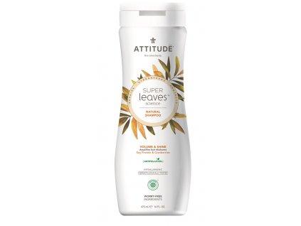 Attitude Super leaves Přírodní šampon s detoxikačním účinkem - lesk a objem pro jemné vlasy 473 ml