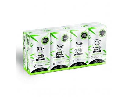 The Cheeky Panda Bambusové kapesníčky 3-vrstvé 8 ks