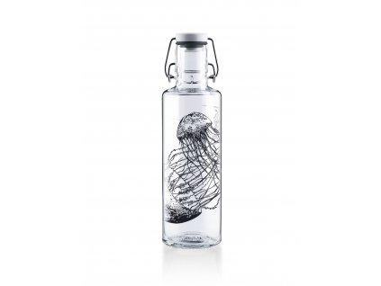 Soulbottles Skleněná láhev Jelly fish 600 ml