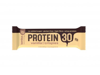 Bombus Tyčinka 30 % protein Vanilla & Crispies 50 g