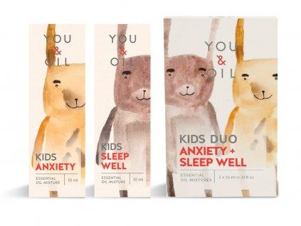 You & Oil Výhodná sada Aromaterapie pro děti Klidný spánek 2 x 10 ml