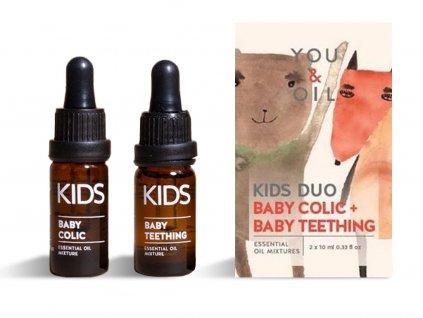 You & Oil Výhodná sada Aromaterapie pro miminka bříško a zoubky 2 x 10 ml