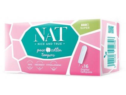 NAT Tampony z organické bavlny Super 16 ks